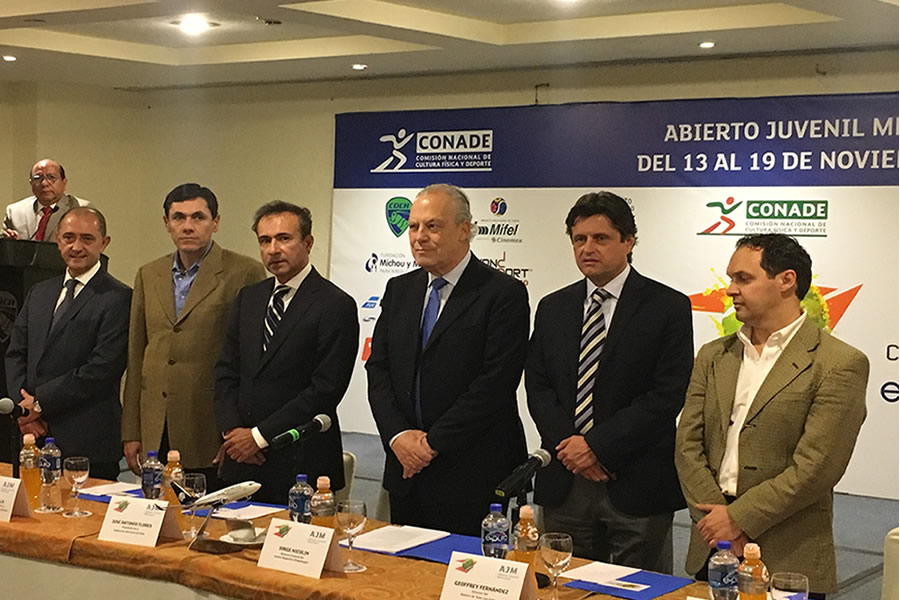 LUNCHEON-PRESS CONFERENCE OF THE ABIERTO JUVENIL MEXICANO